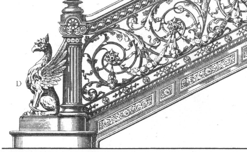 Drawing stairs and stair railing on pinterest